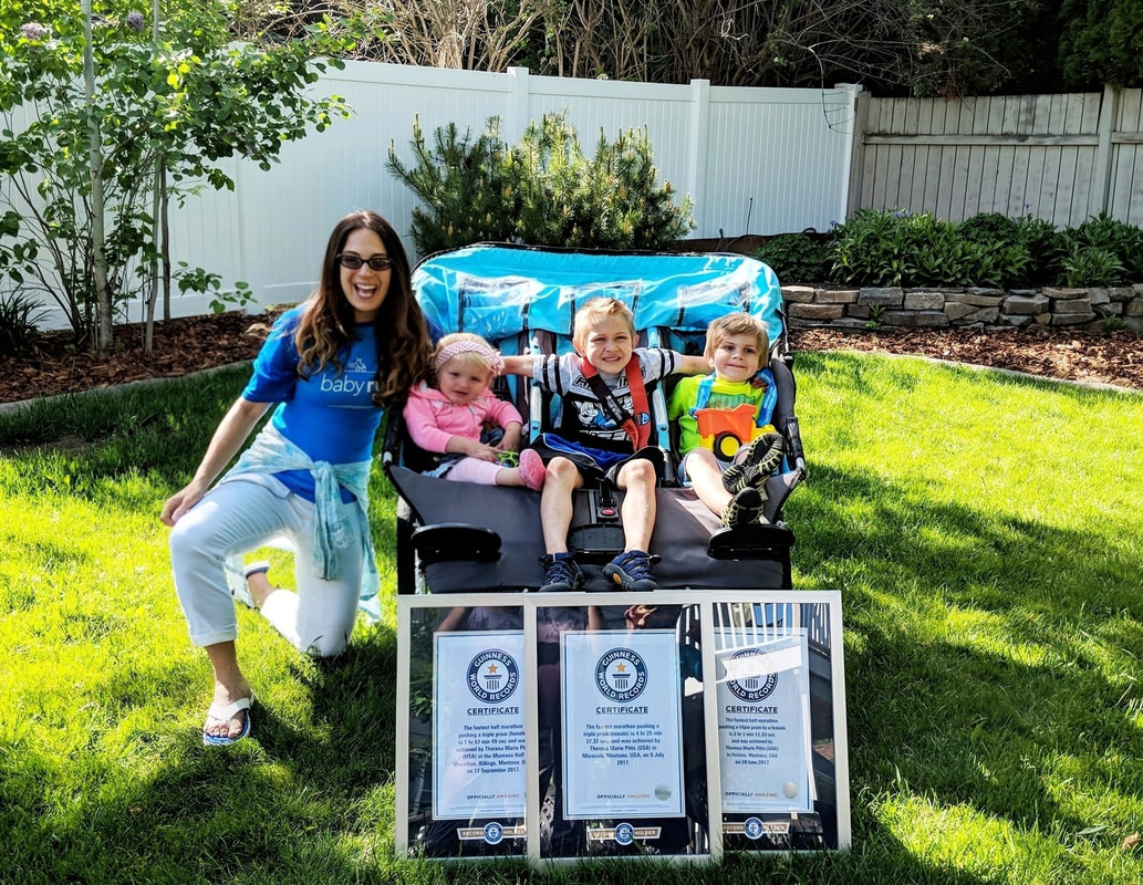 Guinness Book of World Records Triple Stroller Marathon!! Theresa Marie Pitts #StrollerStrong