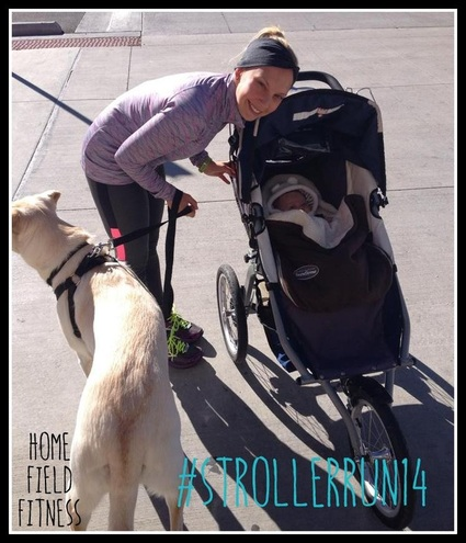 National Stroller Running Day via www.homefieldfitness.org #strollerrun14