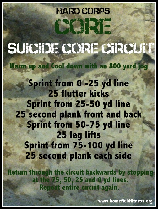 Hard Corps Core - A Suicide Core Circuit via Home Field Fitness