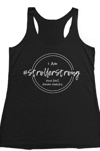 #StrollerStrong Virtual Run Performance Tank for running moms via Shop Grace and Grit