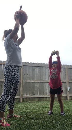 Halloween Pumpkin Power Workout Circuit with Kids! From I am STRONG like MOM